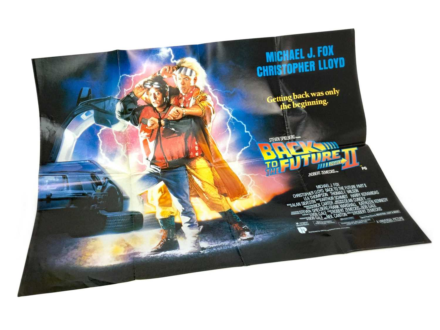 Lot 1341 - A BACK TO THE FUTURE II QUAD FILM POSTER