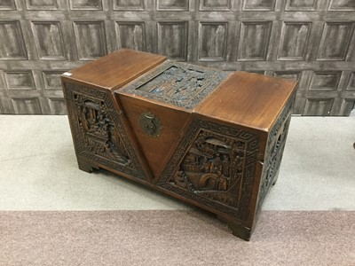 Lot 721-AN EARLY 20TH CENTURY CHINESE CAMPHORWOOD CHEST