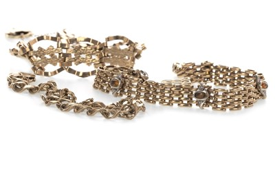 Lot 864 - THREE  BRACELETS