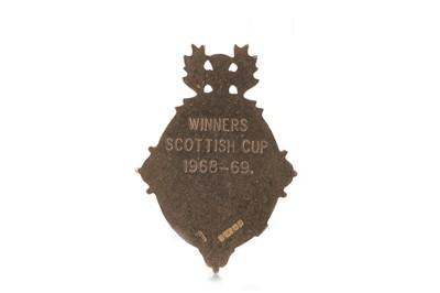 Lot 1725 - JIM BROGAN OF CELTIC F.C. - HIS SCOTTISH CUP WINNERS MEDAL 1968/69