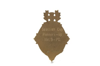 Lot 1726 - JIM BROGAN OF CELTIC F.C. - HIS SCOTTISH CUP RUNNERS-UP MEDAL 1969/70