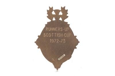 Lot 1729 - JIM BROGAN OF CELTIC F.C. - HIS SCOTTISH CUP RUNNERS-UP MEDAL 1972/73