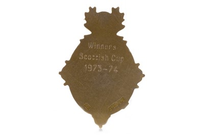Lot 1730 - JIM BROGAN OF CELTIC F.C. - HIS SCOTTISH CUP WINNERS MEDAL 1973/74