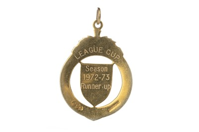 Lot 1734 - JIM BROGAN OF CELTIC F.C. - HIS LEAGUE CUP RUNNERS-UP MEDAL 1972/73