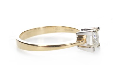 Lot 888-A DIAMOND SOLITAIRE RING