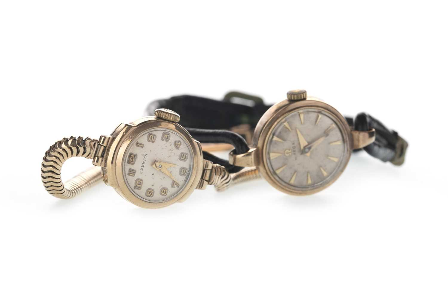 Lot 712 - TWO GOLD LADY'S WATCHES