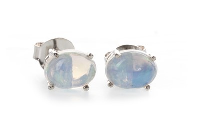 Lot 897-A PAIR OF OPAL STUD EARRINGS