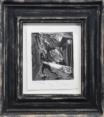 Lot 507-LOST AND HUNGRY, A LITHOGRAPH BY JOHN BYRNE
