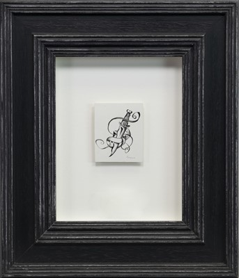 Lot 513-DAGGER, AN INK AND SCRAPER BOARD BY JOHN BYRNE