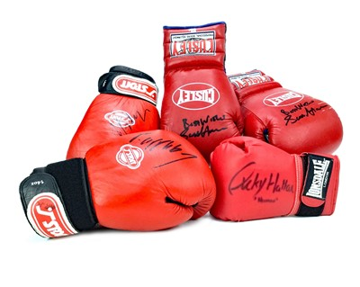 Lot 1752 - A LOT OF SIGNED BOXING GLOVES