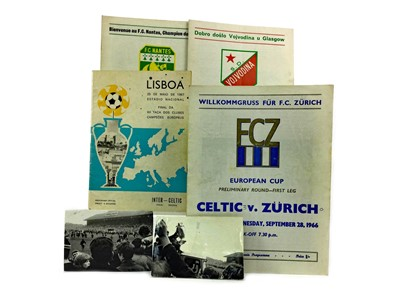Lot 1747 - A CELTIC VS. INTER MILAN EUROPEAN CUP FINAL PROGRAMME 1967, ALONG WITH FOUR OTHERS