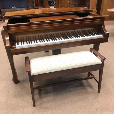 Lot 1105-A MAHOGANY BABY GRAND PIANO BY STROHMENGER