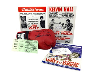Lot 1758 - A BOXING ARCHIVE RELATING TO JIM WATT