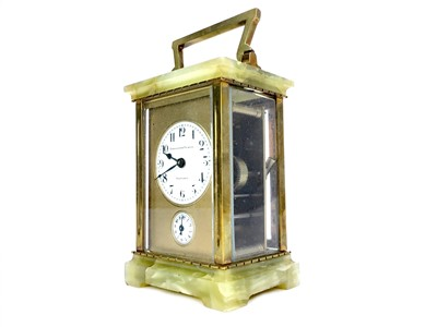 Lot 1102-AN EARLY 20TH CENTURY CARRIAGE CLOCK