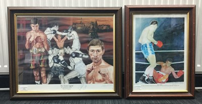 Lot 1761 - A LOT OF TWO SIGNED PRINTS OF BOXERS