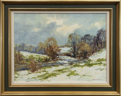 Lot 502-SNOW, WATERFOOT, AN OIL BY J D HENDERSON