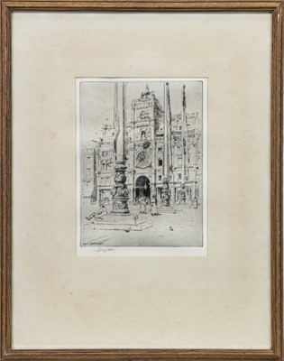 Lot 416-ARCHITECTURAL STUDY BY CHARLES JOHN WATSON