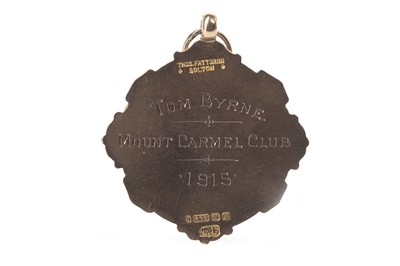 Lot 1763 - A LIVERPOOL WEDNESDAY CUP GOLD MEDAL 1915