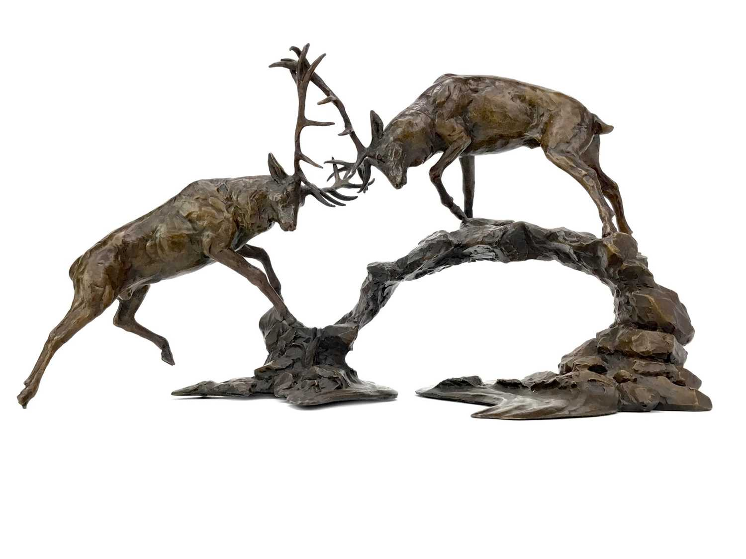 Lot 1421 - DAWN CONTEST, A BRONZE BY MICHAEL SIMPSON
