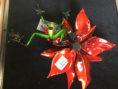 Lot 1423 - POINSETTIA, A BRONZE BY 'FROGMAN' TIM COTTERILL