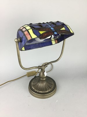 Lot 10-A STAINED GLASS EFFECT TABLE LAMP AND OTHER ITEMS