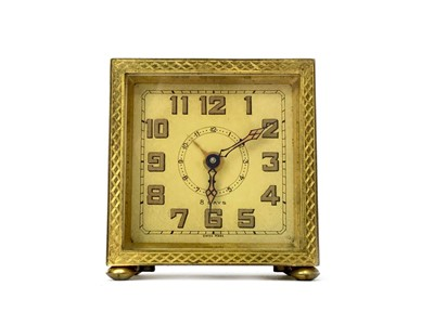 Lot 1166 - A MID 20TH CENTURY TAVELING TIMEPIECE