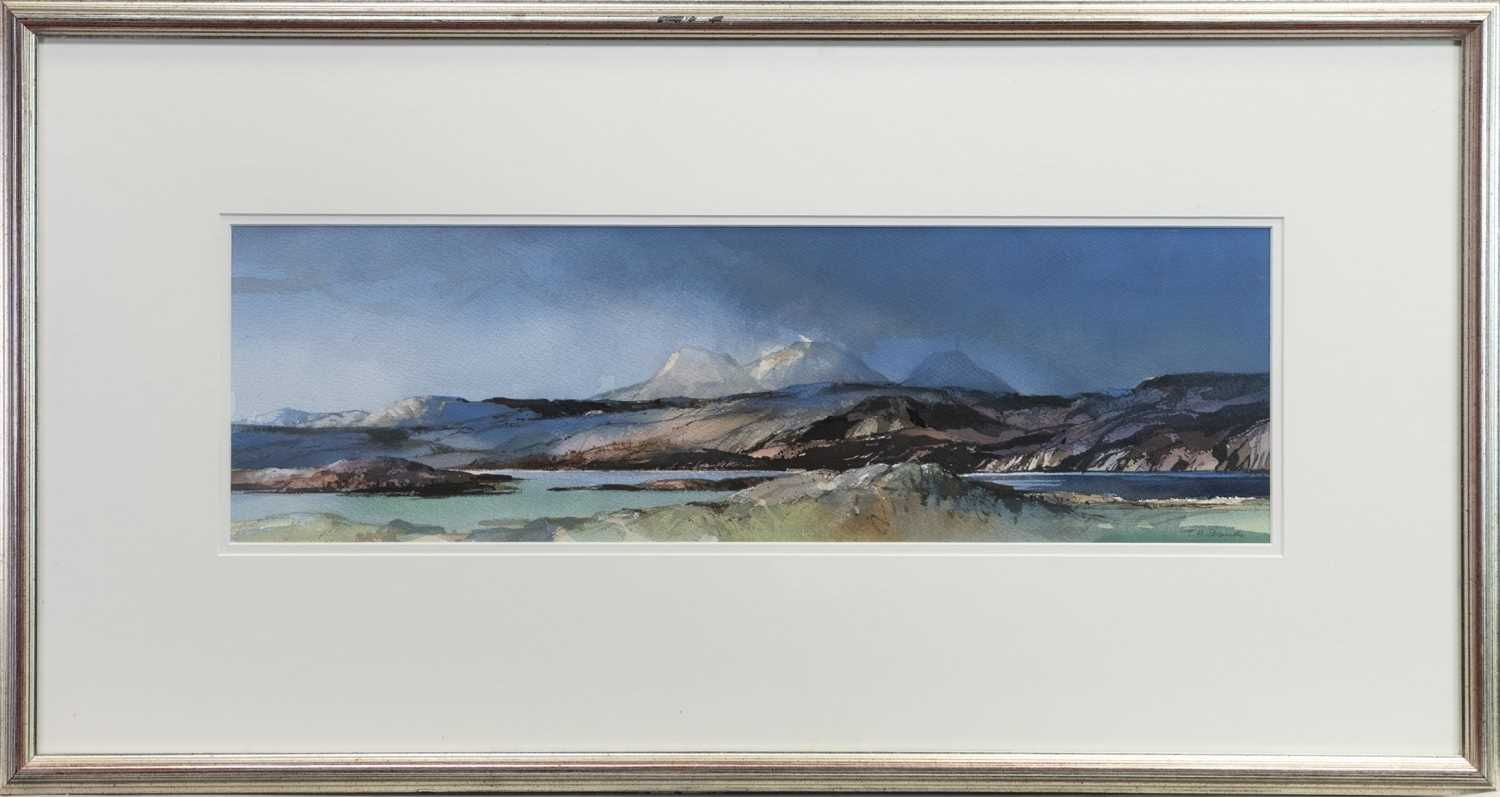 Lot 503-LOCH AILORT, A WATERCOLOUR BY TOM SHANKS