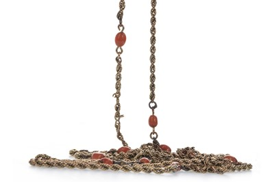 Lot 921 - A CORAL NECKLACE