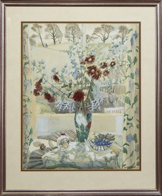 Lot 604 - STILL LIFE, A WATERCOLOUR BY KATHLEEN RUSSELL