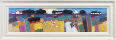 Lot 544-SUMMER SUN, A LARGE OIL ON CANVAS  BY DAVID BODY
