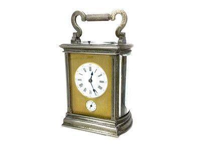Lot 1163 - A 19TH CENTURY FRENCH REPEATER CARRIAGE CLOCK