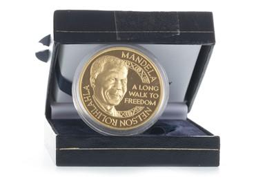 Lot 25-A GOLD NELSON MANDELA DE KLERK COIN