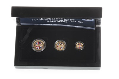 Lot 26-THE 2018 DEFENCE OF OUR SKIES COLOUR SOVEREIGN GOLD SERIES COIN SET