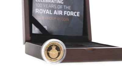 Lot 27-THE RAF CENTENARY GOLD PROOF ONE POUND COIN