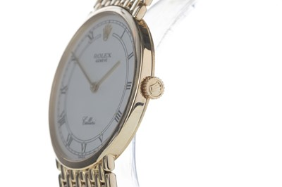 Lot 719-A GENTLEMAN'S ROLEX CELLINI EIGHTEEN CARAT GOLD MANUAL WIND WRIST WATCH
