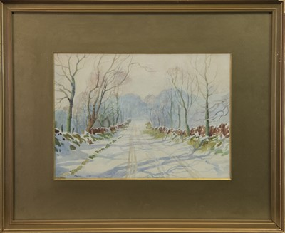 Lot 422-WOODED WINTER SCENE, A WATERCOLOUR BY FRANCIS PATRICK MARTIN