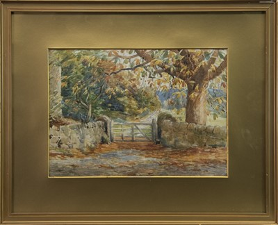 Lot 423-AUTUMNAL SCENE, A WATERCOLOUR BY FRANCIS PATRICK MARTIN
