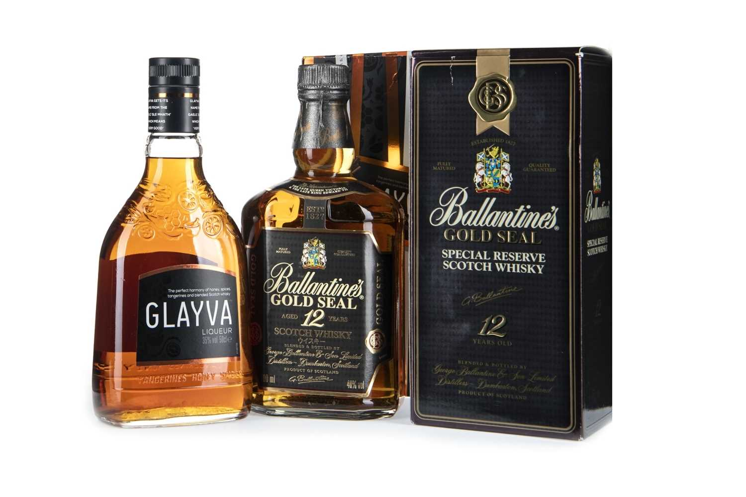 Lot 410-GLAYVA AND BALLANTINE'S GOLD SEAL 12 YEARS OLD