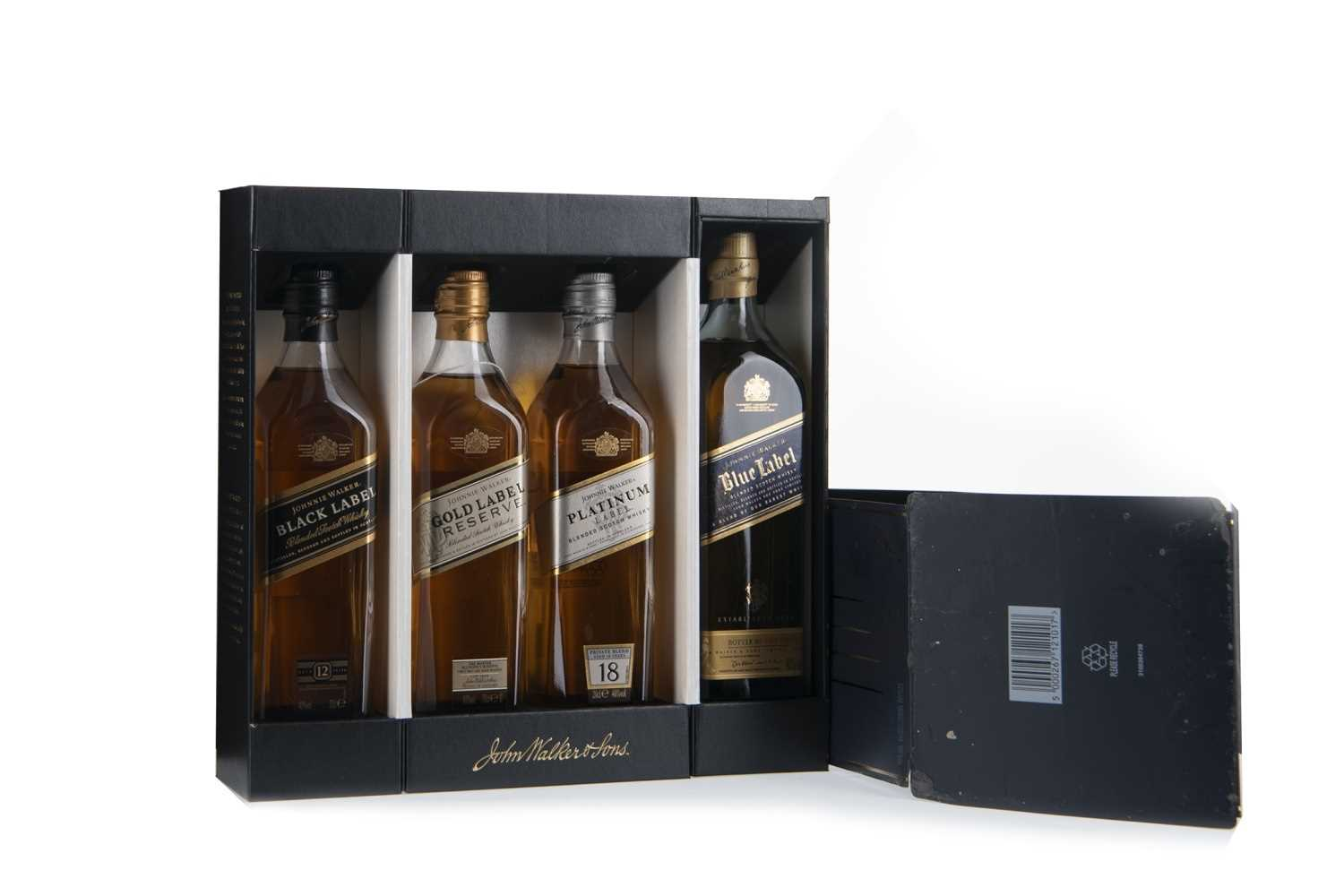 Lot 408 - JOHNNIE WALKER COLLECTION (4x20CL)