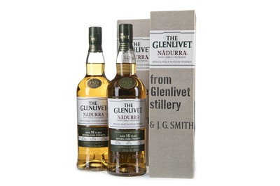 Lot 36-TWO BOTTLES OF GLENLIVET NADURRA AGED 16 YEARS