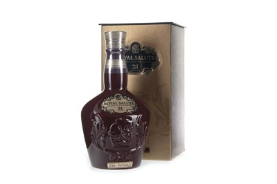 Lot 405-CHIVAS REGAL ROYAL SALUTE 21 YEARS OLD RUBY FLAGON