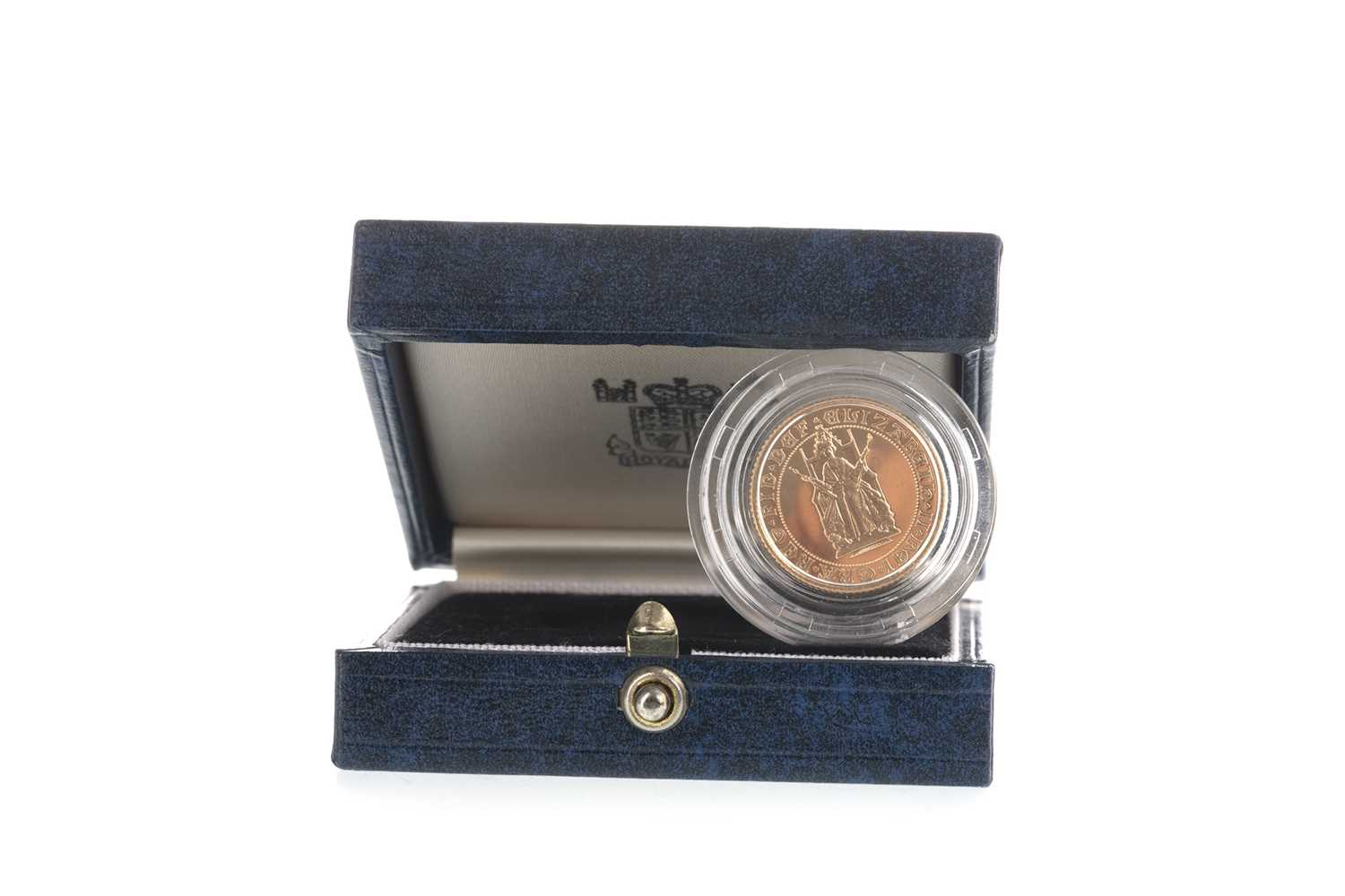 Lot 15-A GOLD HALF SOVEREIGN MARKING 500TH ANNIVERSARY OF THE FIRST GOLD SOVEREIGN