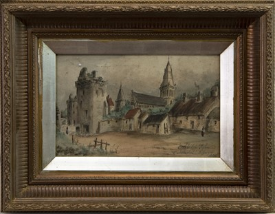 Lot 400-A PAIR OF WATERCOLOURS DEPICTING GLASGOW SCENES
