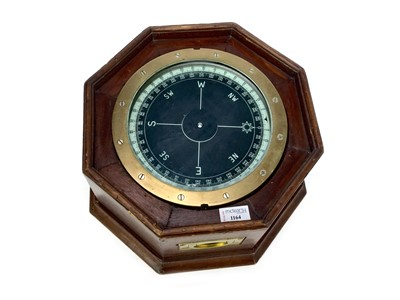 Lot 1164 - A MID-20TH CENTURY SHIP'S COMPASS