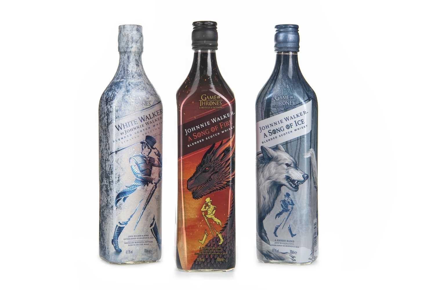 Lot 418 - JOHNNIE WALKER A SONG OF FIRE, A SONG OF ICE AND WHITE WALKER