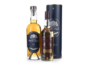 Lot 269-ONE LITRE OF ROYAL BRACKLA AGED 12 YEARS AND ONE BOTTLE OF ROYAL BRACKLA NAS