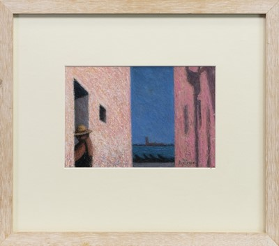 Lot 568-PASSAGE TO THE LAGOON, AN OIL PASTEL BY PHILIP ARCHER