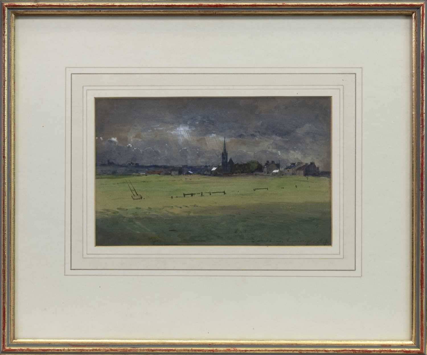 Lot 8-THE COMING STORM, A WATERCOLOUR BY JAMES GARDEN LAING