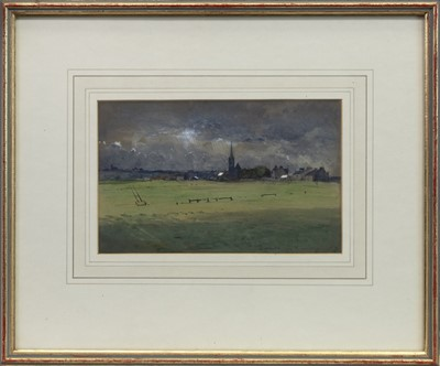 Lot 8 - THE COMING STORM, A WATERCOLOUR BY JAMES GARDEN LAING