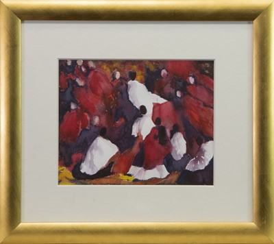 Lot 410-BLOWING IN THE WIND, A GOUACHE BY ALISON BANNERMAN